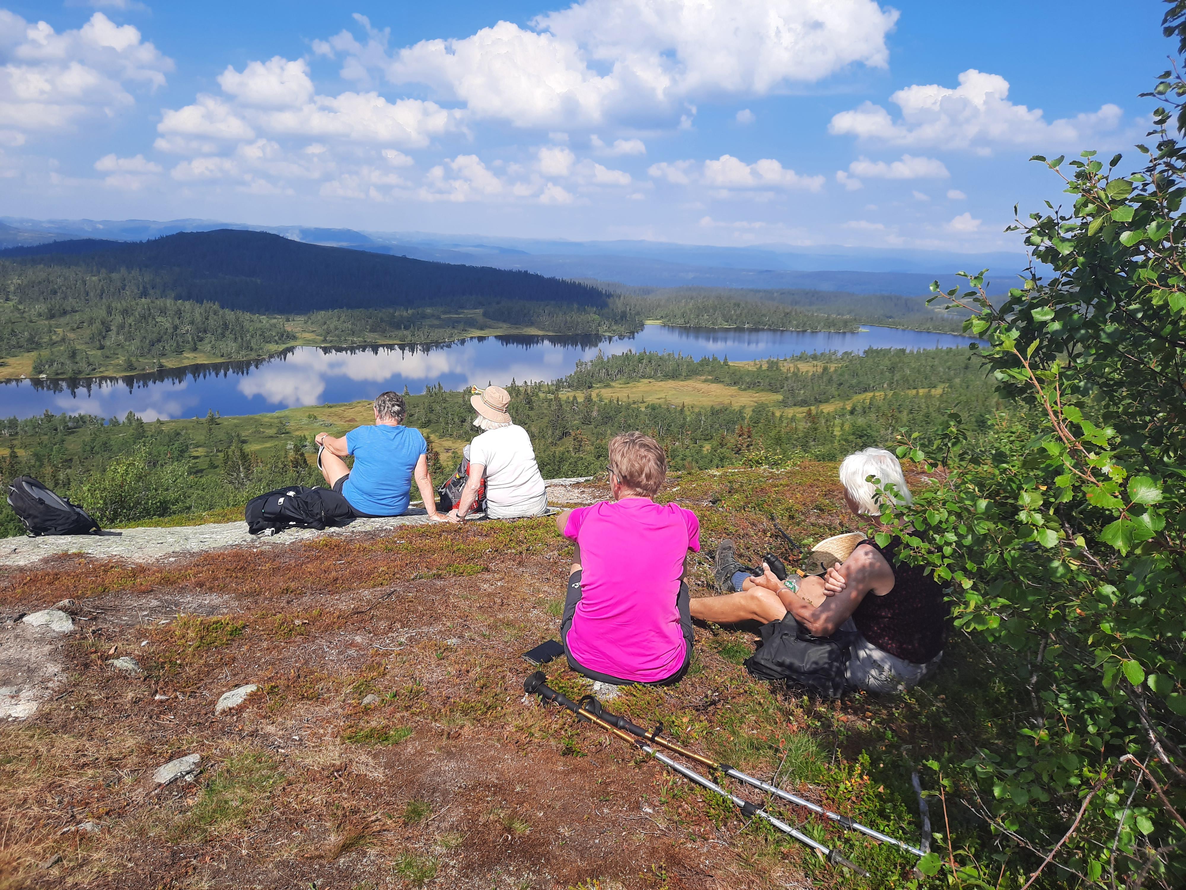 Vandreferie i Norge for seniorer i Telemarken, Fjeldvandringer på det norske højfjeld