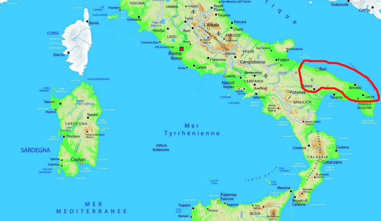 Se kort over rejsen her